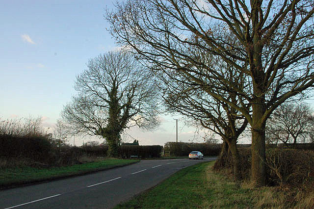 Lane junction off a B road