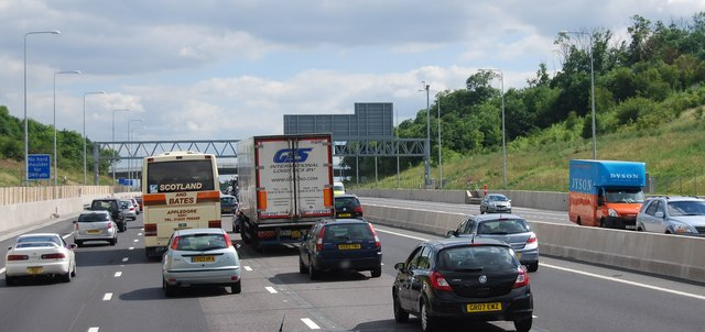 M25, southbound