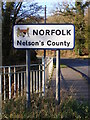 TM2482 : Norfolk sign at Shotford Bridge by Adrian Cable