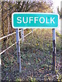 TM2482 : Suffolk sign at Shotford Bridge by Adrian Cable