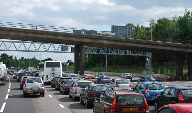 A common sight on the M25 (near Warley Road Bridge)
