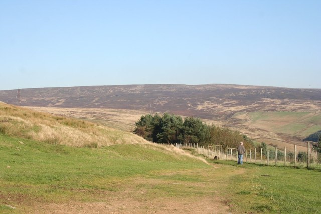 Footpath above Hollingworth Hall
