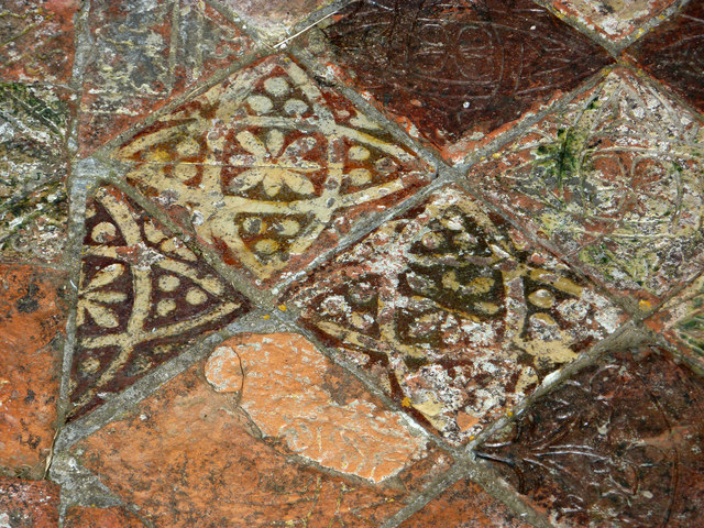 Close up of medieval floor tiles -... © Phil Champion cc-by-sa/2.0 ...
