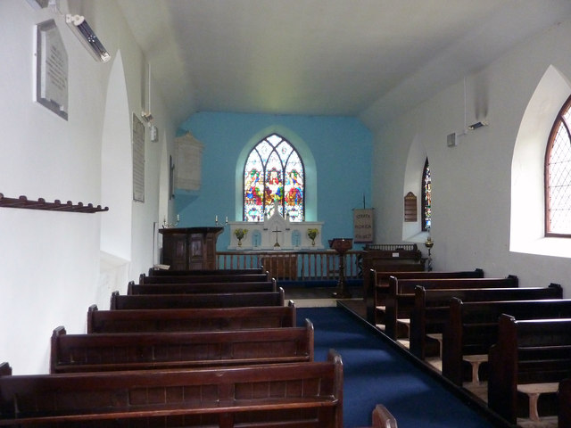 Interior of St Mary's, Strata Florida