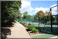 TM1645 : Tennis Courts, Christchurch Park by Nigel Chadwick