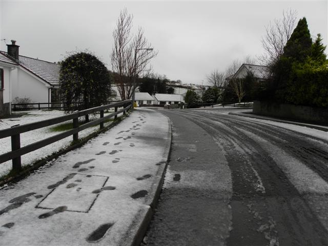 Footprints in the snow, Omagh