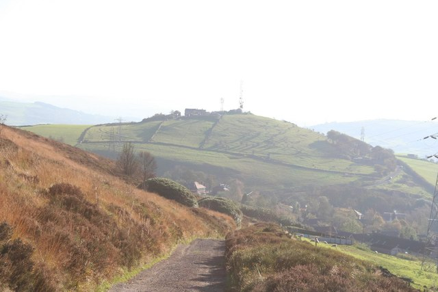 Descending from Wild Bank Hill