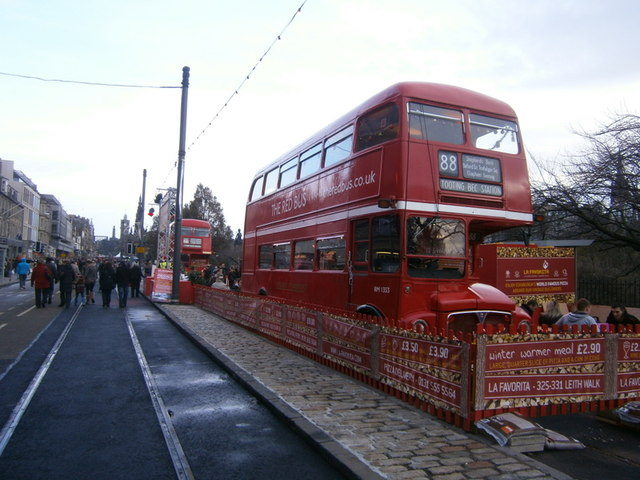 Red Bus, Princes Street,  Edinburgh