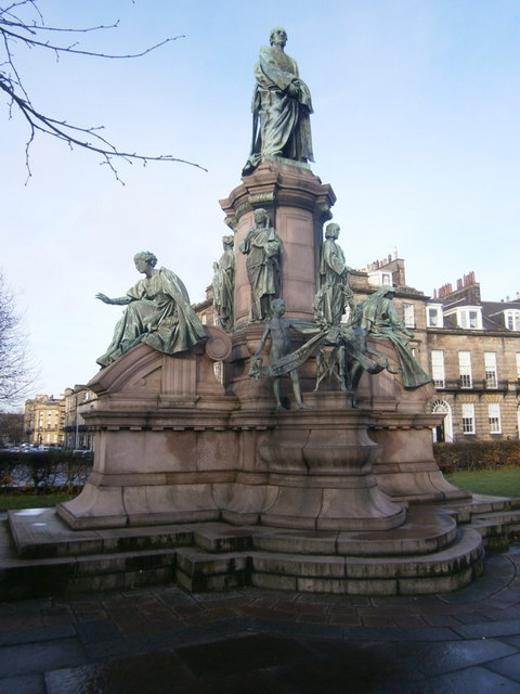 Gladstone Monument  Coates Crescent  Edinburgh