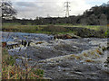 SJ9489 : River Goyt, Chadkirk Weir by David Dixon
