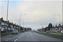 SP0593 : Walsall Road A34 heading Towards The Scott Arms by Roy Hughes