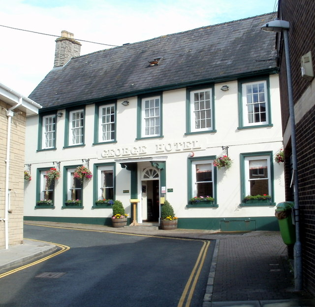 Grade II listed George Hotel, Brecon