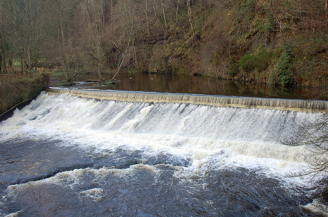 Weir on the North Esk, Roslin Glen