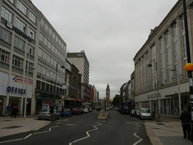 View north east along High Street, Belfast