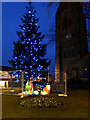 SD8510 : Christmas Tree and Nativity, Heywood by David Dixon