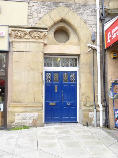 Entrance to the Freemasons´ Hall, Llandudno
