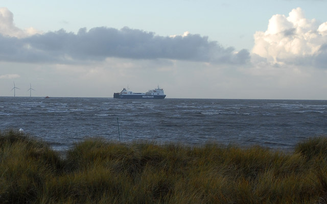 Seatruck in the Crosby Channel