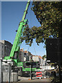 SP3165 : Big green crane lifts precast concrete wall by Robin Stott