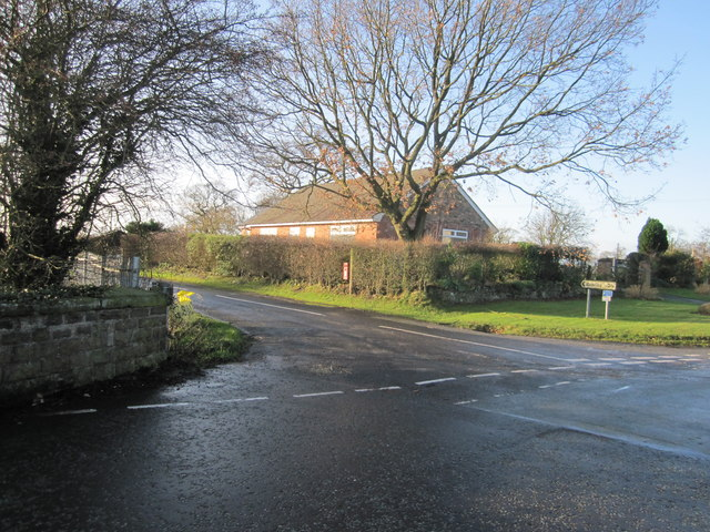 Woodhouse End Road/Cowbrook Lane junction, Gawsworth