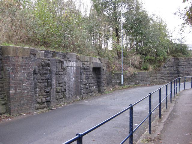 Wern Terrace viaduct remains