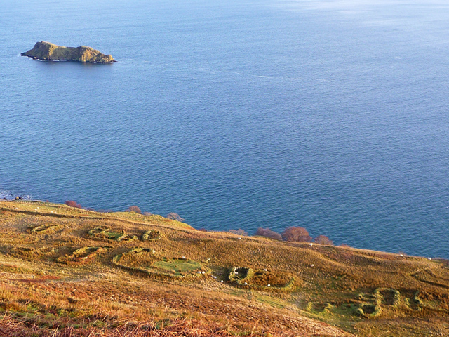 Looking down on South Holm settlement