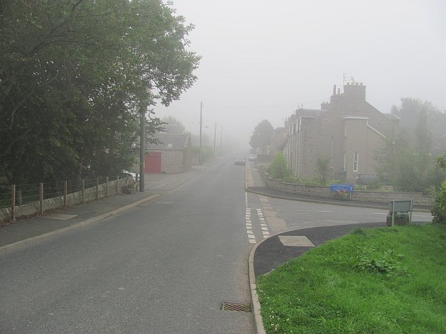 Udny Station in the haar