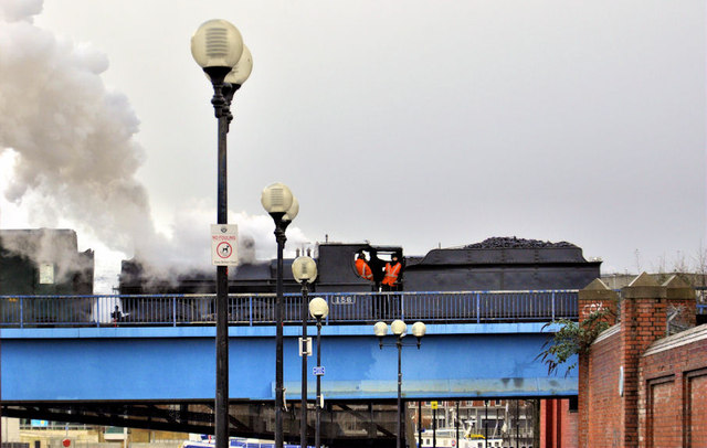 Steam train, Belfast