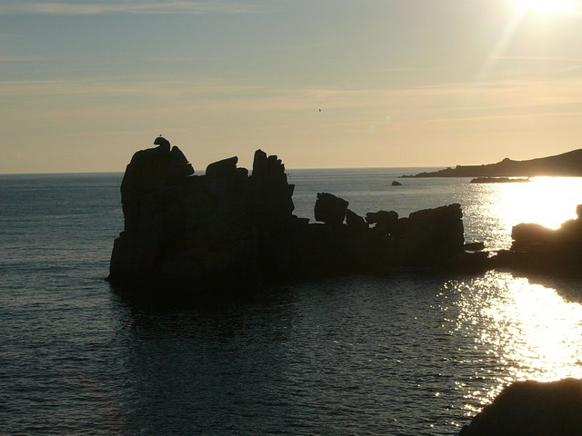 Rock silhouettes at Inner Head, Peninnis Head