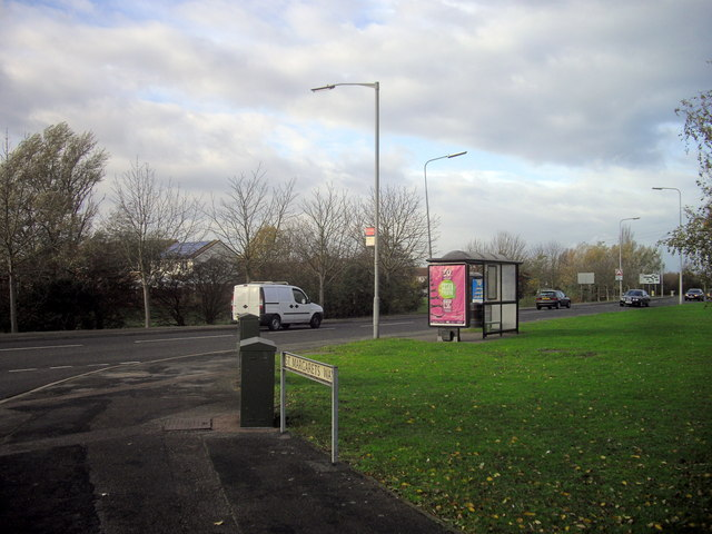 Bus stop on Stukeley Road, Huntingdon