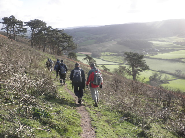 Hikers, on Bratton Ball