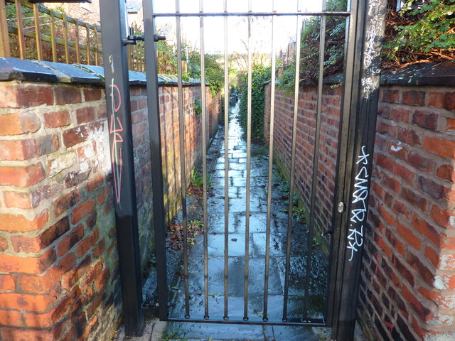 A gated alley, Chorlton-cum-Hardy