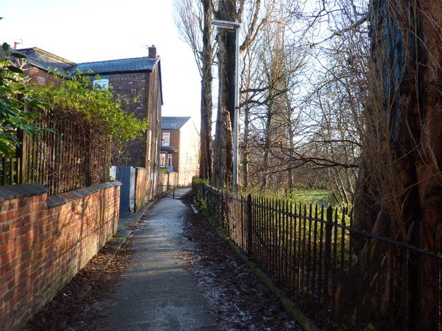 Footpath towards Nell Lane, Chorlton-cum-Hardy