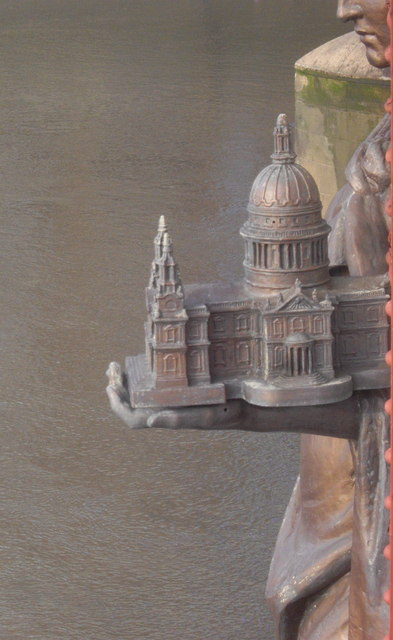 A miniature of St Paul's Cathedral, Vauxhall Bridge