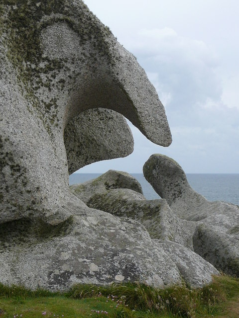 'Monster Rock' One of many weird rock shapes on Peninnis Head, St Mary's