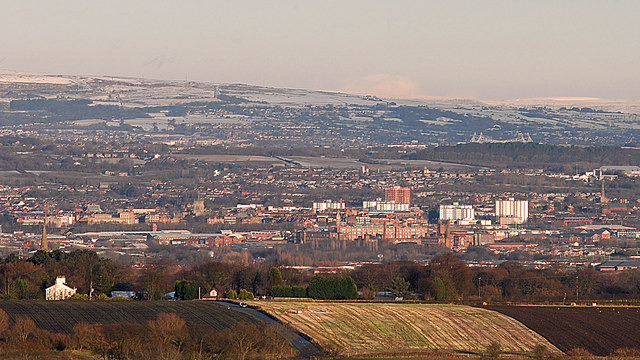 Wigan from Billinge Hill