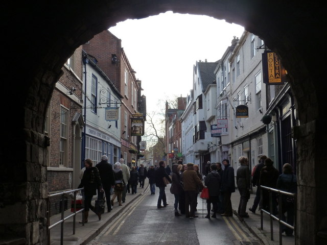 York: High Petergate from Bootham Bar