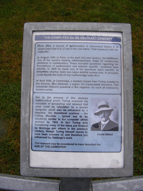 Information board at Computer Commemoration Sculpture