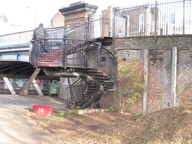 Bridge 4c Paddington Arm - spiral staircase to Great Western Road