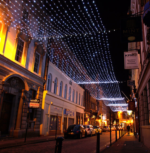 Christmas Lights in Silver Street