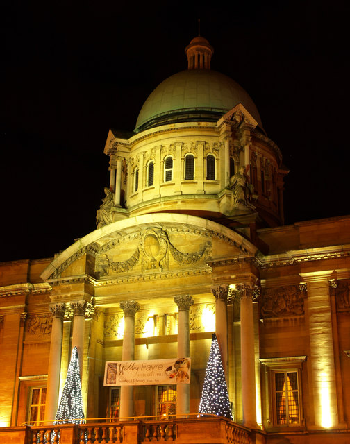 Hull City Hall at Christmas