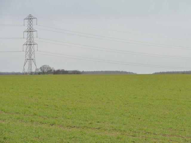 Power lines north of Whitecote Lane