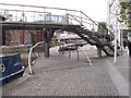 TQ2681 : Paddington Arm - spiral ramp to Harrow Road footbridge by David Hawgood