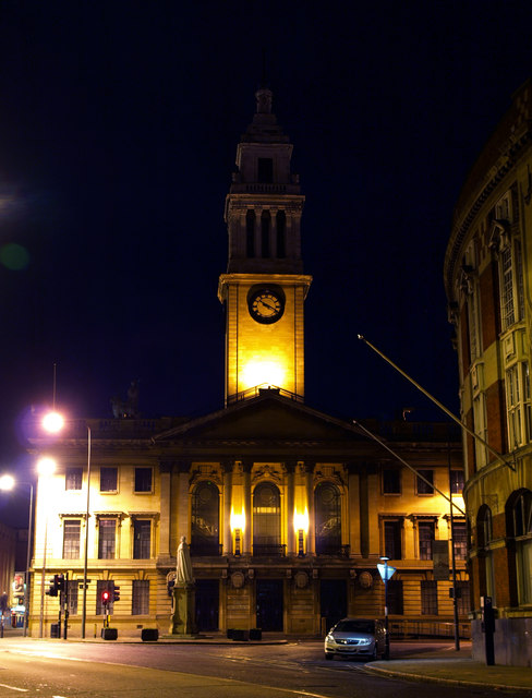 Hull Guildhall at Night Time