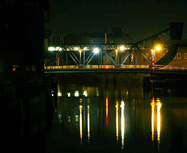 North Bridge from Drypool Bridge at Nighttime