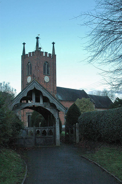 Dusk at St. Chads, Seighford