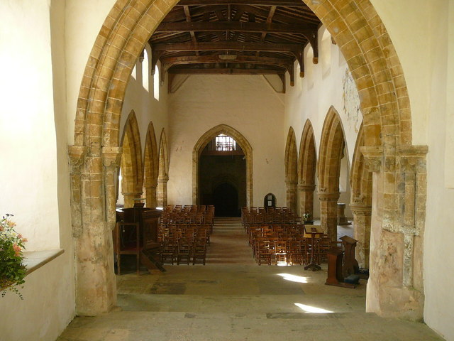 Interior of All Saints' Church, Burton Dassett