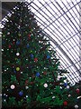 TQ3083 : St Pancras station, December 2011: Lego Christmas tree by Christopher Hilton