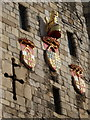 SE5951 : York: detail of Micklegate Bar by Chris Downer