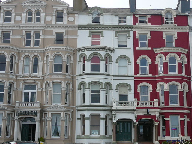 Douglas - Victorian house fronts on seafront