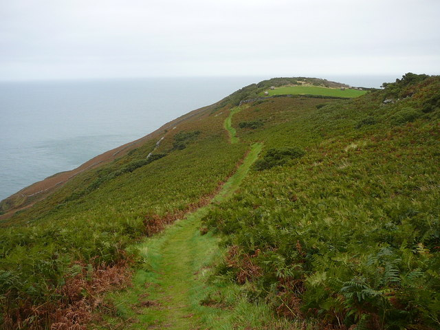 Coastal path along Maughold Broogh